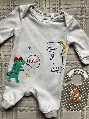 Newborn Baby Boys Clothes Dinosaur Theme One Piece Outfit By Bluezoo 🦖🦖 • 2.99£