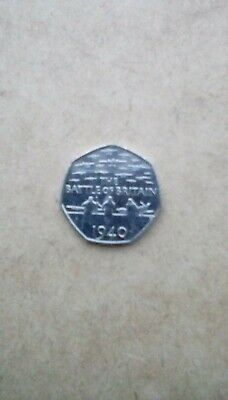 Collectable Battle Of Britain 50 Pence Piece From 2015 • 100£