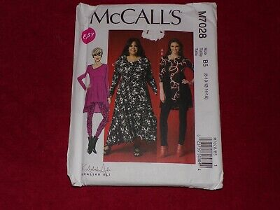 🌹 McCALL'S #M7028 - LADIES HIGH-LOW TUNIC - DRESS & LEGGINGS PATTERN  8-16 FF • 7.23£