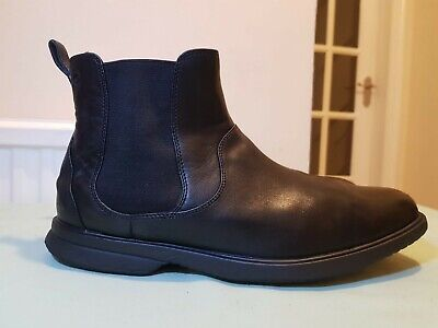 Rockport Men's Aphrael Pull On Black Leather Chelsea Boots Size UK 11  • 25.90£