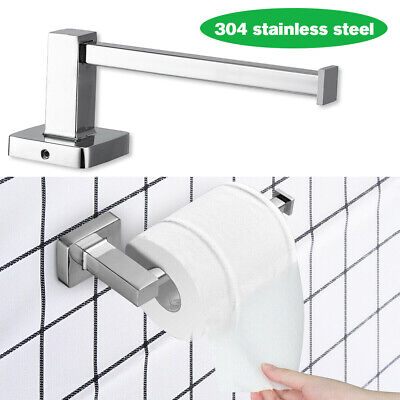 AU16.98 • Buy Mounted Toilet Paper Roll Holder Stainless Steel Hook Bathroom Wall Storage NEW