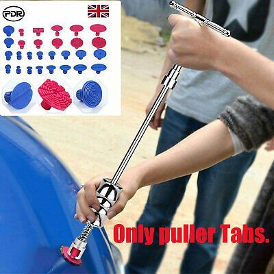 PDR Tools Glue Pulling Dent Puller Tabs Paintless Removal Car Body Repair Kit • 12.38£