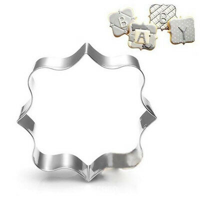 3Pcs Stainless Steel Fancy Plaque Frame Mould Cookie Cutter Fondant Cake Y3UK • 4.69£