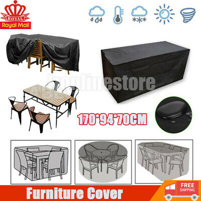 Outdoor Cover Garden Furniture Waterproof Patio Rattan Table Chair Cube Set Park • 11.29£
