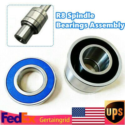 $84.05 • Buy 1SET Mill Machine Parts R8 Spindle Bearings Assembly Fit For Bridgeport Milling