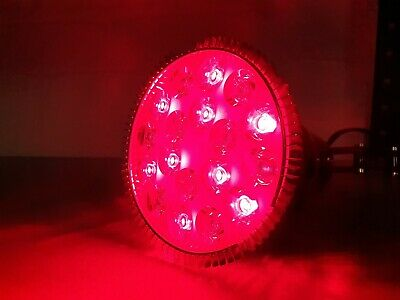 E27 Red LED Light Bulb 660nm Red + 850nm Infrared LED 36W Therapy / Grow Lamp • 10£