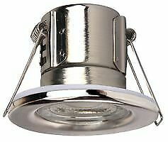 £3.49 • Buy SAMSUNG LED FIRE RATED 5w DIMMABLE DOWNLIGHT IP65 3000K OR 4000K SATIN CHROME