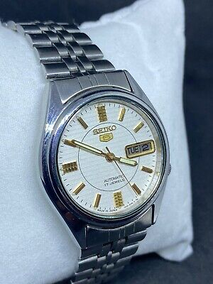 $ CDN5.64 • Buy Vintage Seiko 5 White Dial Automatic Watch (Good CONDITION) SERVICED