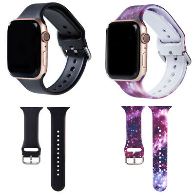 $ CDN7.41 • Buy Black Sport Modern Strap Band 38 40mm 42 44mm For Apple Watch Series 1 2 3 4 5 6