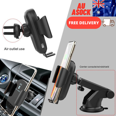 AU18.47 • Buy Qi Wireless Charger Car Mount Phone Holder Automatic Clamping Smart Sensor AU