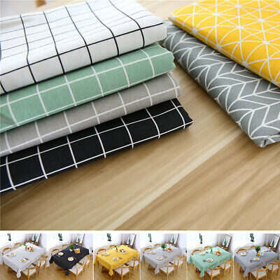 £9.71 • Buy Cotton Table Cloth Table Cover Rectangular Party Dining Tableware Tablecloth UK