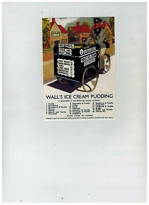 Walls Ice Cream Tricycle Delivery Bike , Cycle Series Robert Opie Advert Card • 2.99£