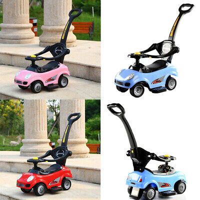 3in1 Kids Push Car Toy For Boys Girls Push Along Toddler Infants Ride On Walker • 29.99£