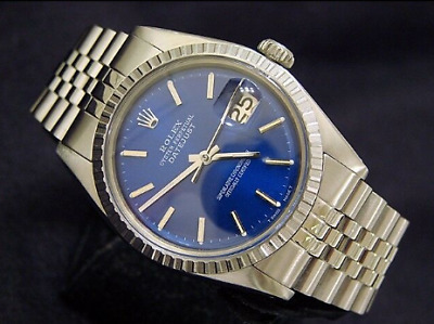 $ CDN2904.54 • Buy Mens Rolex Datejust Stainless Steel Watch Jubilee With Submariner Blue Dial