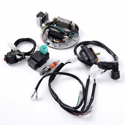 $50.40 • Buy For 50-125cc Kick Start Dirt Bike Wire Harness Wiring Loom CDI Coil 4 Stroke
