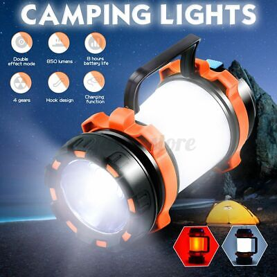 AU20.99 • Buy Rechargeable Camping Lantern Outdoor Tent Light Spotlight Lamp Power For Phon