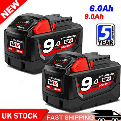 For Milwaukee M18 Lithium XC 9.0 Ah Extended Capacity Battery Pack 48-11-1852 • 46.99£