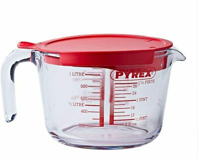 £12.49 • Buy Pyrex Classic Glass Measuring Jug Prep Ware Mixing With Lid High Resistance 1L