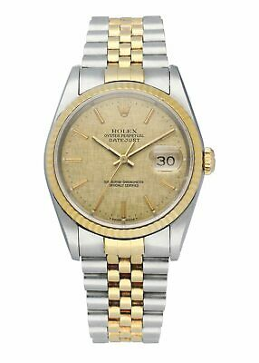 $ CDN8205.64 • Buy Rolex Datejust 16233 Linen Dial Mens Watch