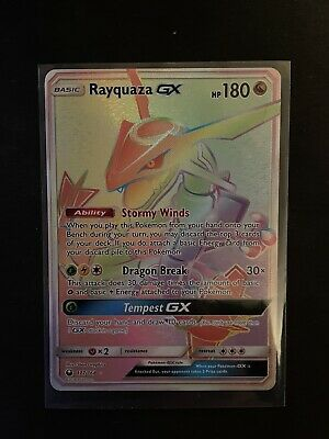$ CDN200 • Buy Pokemon Celestial Storm Rayquaza GX Secret Rare Rainbow # 177/168