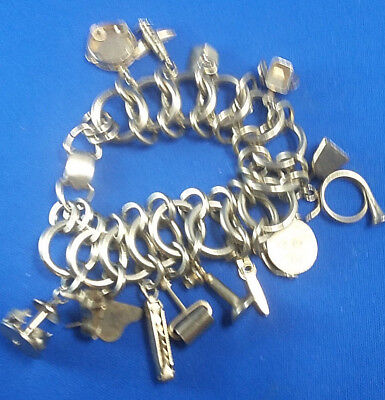 $ CDN87.54 • Buy Vintage Jewelry  Charm Bracelet By KENT Very Unique Lots Of Charms