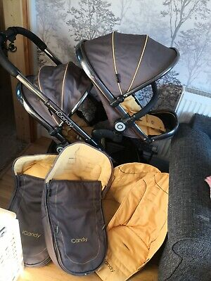 ICandy Peach Honeycomb Double Pushchair • 500£
