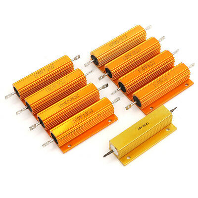 $2.79 • Buy 100W 0.01-20 Ohm Shell Power Aluminum Housed Case Wirewound Resistor New S!S.fd