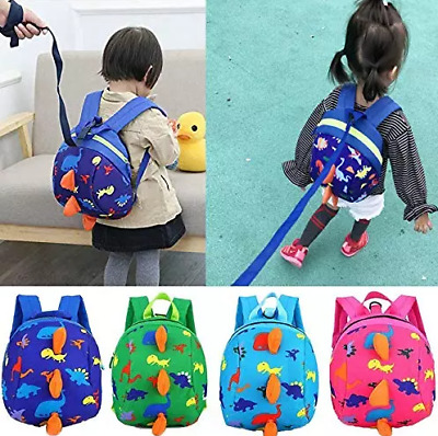 Cartoon Baby Toddler Kids Walking Safety Harness Strap Bag Backpack With Reins • 7.69£