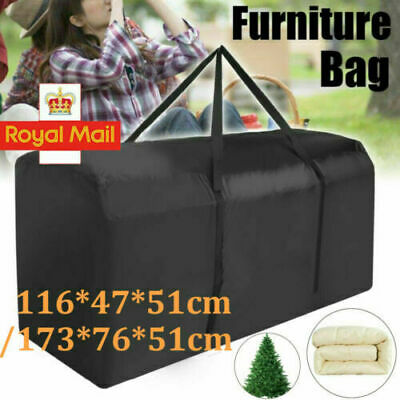 Extra Large Storage Bag Outdoor Furniture Cushions Christmas Tree Waterproof • 10.39£