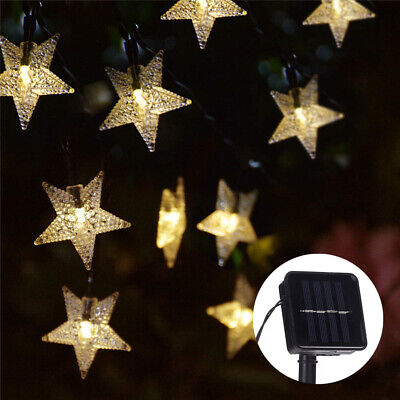Solar Powered Fairy String LED Lights Waterproof Star Decor Party Garden Outdoor • 6.99£