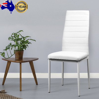 AU119.11 • Buy Artiss Set Of 4 Dining Chairs PVC Leather - White
