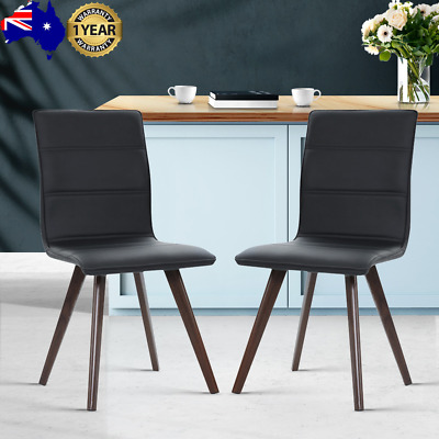 AU97.20 • Buy Artiss Set Of 2 Dining Chairs Retro Chair New Metal Legs High Back PU Leather