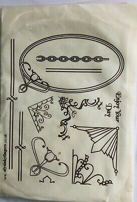 Magenta Canada Art Nouveau Reclining Beauty Lady Fainting Couch Rubber Stamp