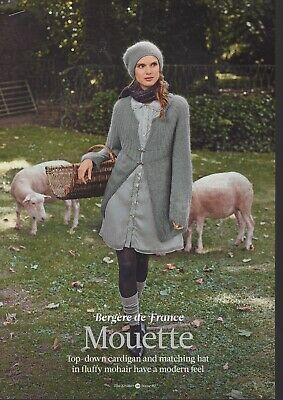 Bergere De France Knitting Pattern - Mouette Top Down Cardigan & Matching Hat • 1.25£