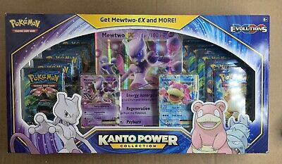 $300 • Buy Pokemon TCG Kanto Power Collection Box Mewtwo XY Evolutions 10 Booster Packs NEW