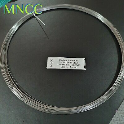 AU7.25 • Buy 1~5m X 0.5mm Single Strand Spring Steel Wire Hard 0.5 26AWG Carbon Spring Steel