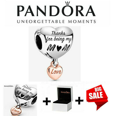 Genuine Silver Pandora ALE S925  Love You Mum Heart Charm With Gift Box 788830C0 • 12.99£