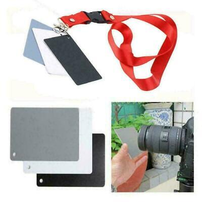 Digital Color Balance 18% Gray Card 3in1 Black Grey For Photography A CL T7A6 • 1.99£