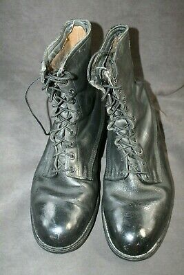 $45.99 • Buy Vintage U.s. Army All Leather Black Combat Boots Size 10 Regular