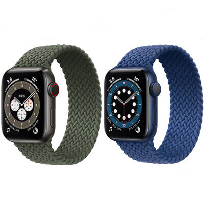 AU11.99 • Buy Luxury Braided Solo Loop Strap Band For Apple Watch 6 SE 5 4 3 2 1 IWatch 42MM