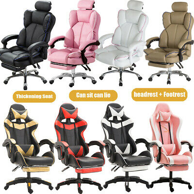 AU148.77 • Buy Racing Gaming Chair Office Executive Swivel PU Leather Sport Computer Desk Chair