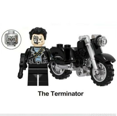 £4.95 • Buy The Terminator With Motorcycle Action Film Minifigures Dark Fate Lego MOC 1984