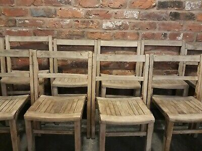 £22.95 • Buy 14 Small Child Childrens Vintage School Chairs Antique Wooden Pine £22 EACH