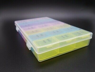 £3.99 • Buy Weekly Daily Pill Box Organiser Medicine Tablet Storage Dispenser 7 Day 3 Times