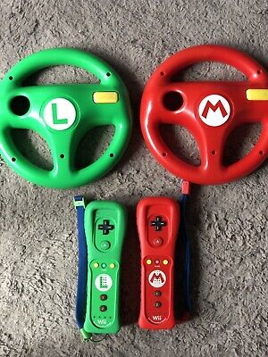$ CDN113.95 • Buy Lot Of 2 NINTENDO WII REMOTE MOTION PLUS MARIO AND LUIGI CONTROLLERS