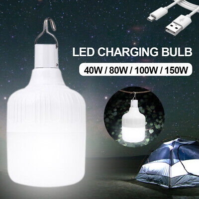 £11.99 • Buy 80W/150W Camping Tent Light USB Rechargeable LED Lantern Outdoor Hang Up Torch