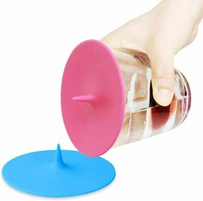 £4.99 • Buy Pack Of 2* Silicone Cup Lid Glass Drink Cover Anti-dust Coffee Mug Suction Seal