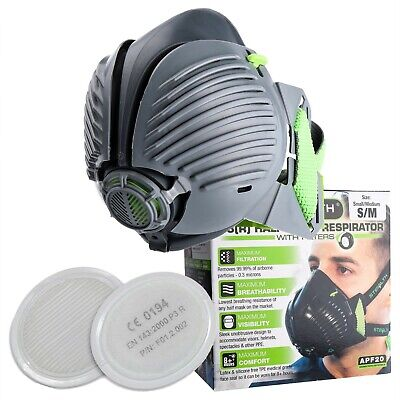 STEALTH P3 Respirator Facemask With Twin HEPAC Filters | Half-mask | Face Mask • 28.70£