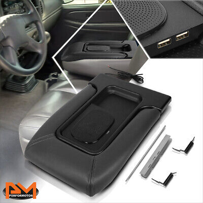 $79.89 • Buy For 01-07 Tahoe/Yukon Leather Center Console Lid Armrest W/Wireless Charger&USB
