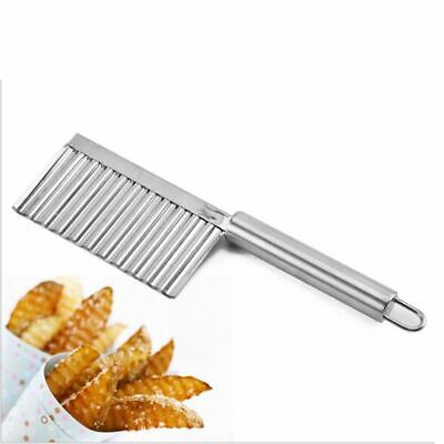 £4.99 • Buy Stainless Steel Potato Cutter Chip Salad Vegetable Crinkle Wavy Cutter Tools